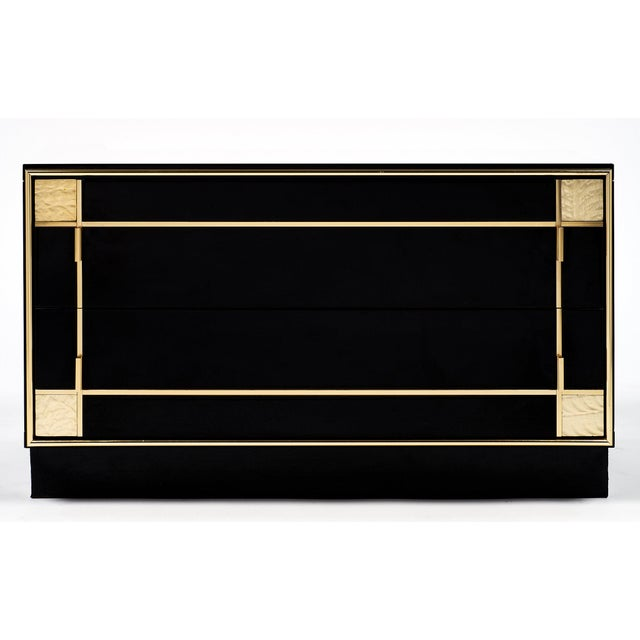 Black Mid-Century Modern French Lacquered Side Tables by Pierre Cardin - a pair For Sale - Image 8 of 10