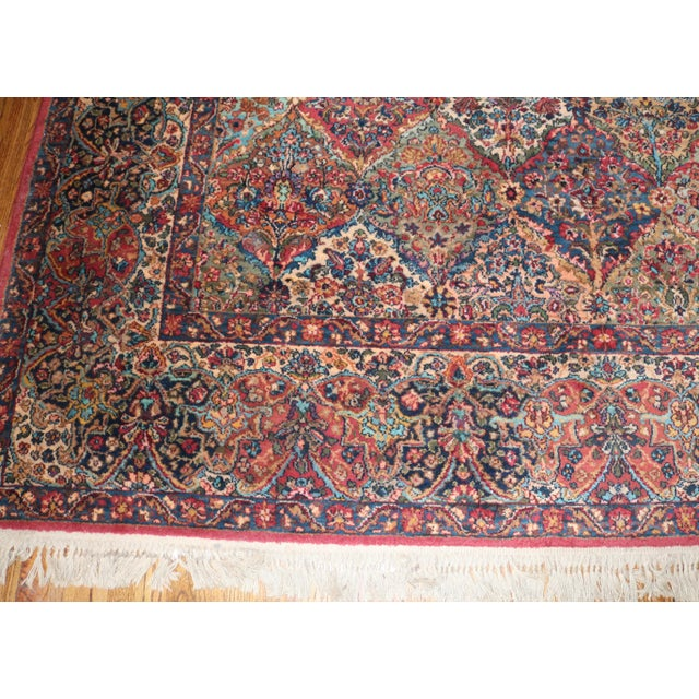 Textile Karastan Kirman Multicolor Rug - 8′7″ × 10′8″ For Sale - Image 7 of 9