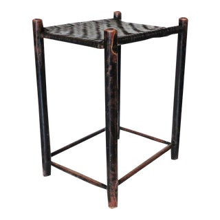 19th Century Weaver's Stool from New England in Original Old Surface For Sale