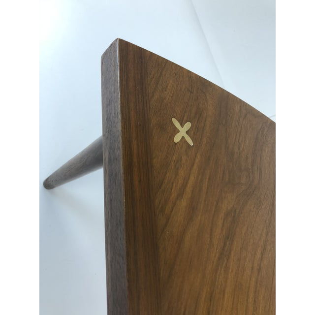 Mid Century Modern Wedge Table - Merton Gershun for American of Martinsville For Sale - Image 10 of 13