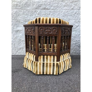 Vintage United Furniture Striped Barrel Chairs- A Pair Preview