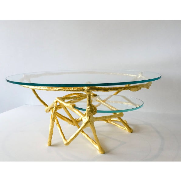 Contemporary Linear Downfall Cocktail Table by Zuckerhosen For Sale - Image 3 of 4