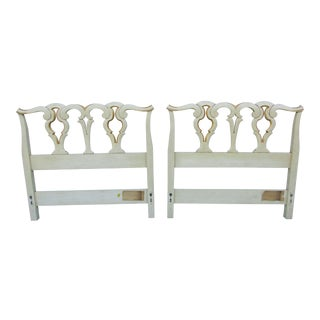 John Widdicomb French Country Headboards - A Pair For Sale