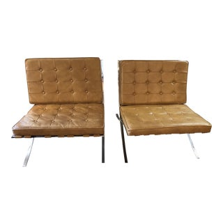 1960s Mid-Century Modern Tan Lounge Chairs - a Pair For Sale