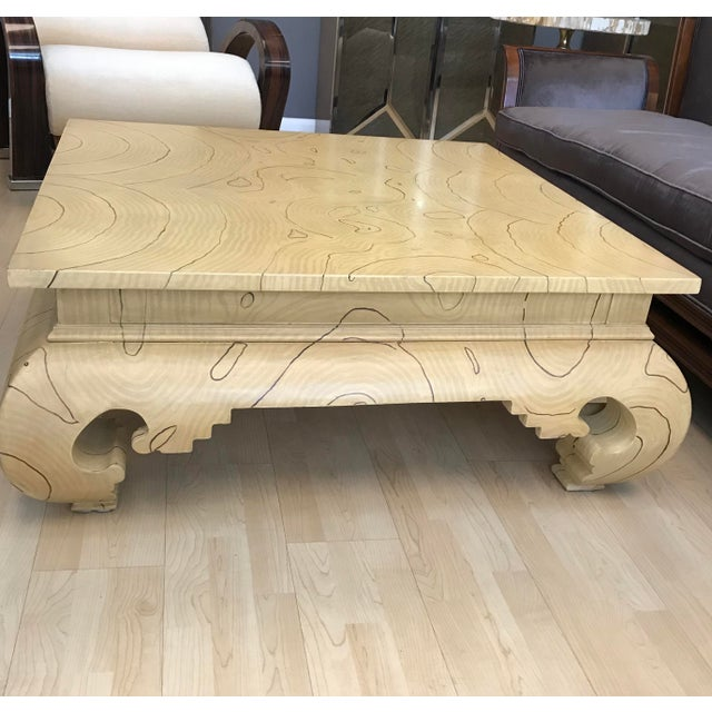 Faux Wood Grain Painted Coffee Table For Sale - Image 5 of 13