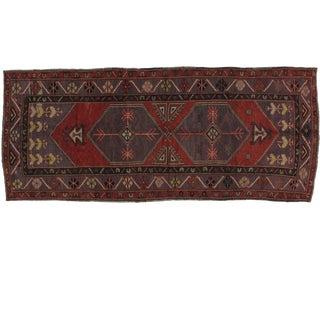 Leon Banilivi 1960s Vintage Turkish Oushak Rug - 4′1″ × 9′9″ For Sale