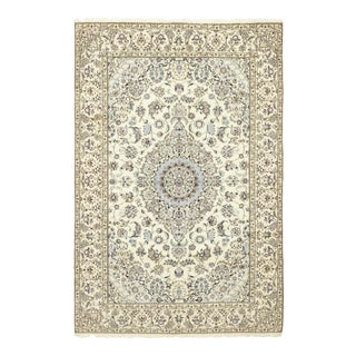 One-Of-A-Kind Persian Hand-Knotted Area Rug, Parchment, 6' 9 X 10' For Sale
