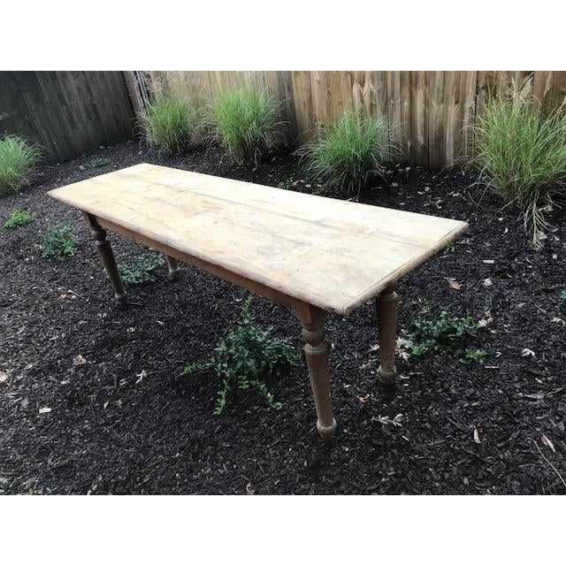 Antique Farmhouse Dining Table - Image 2 of 10