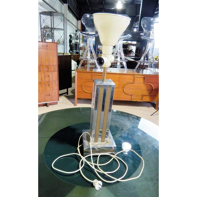 Willy Rizzo Mixed Metal Mid-Century Lamp For Sale In Philadelphia - Image 6 of 7