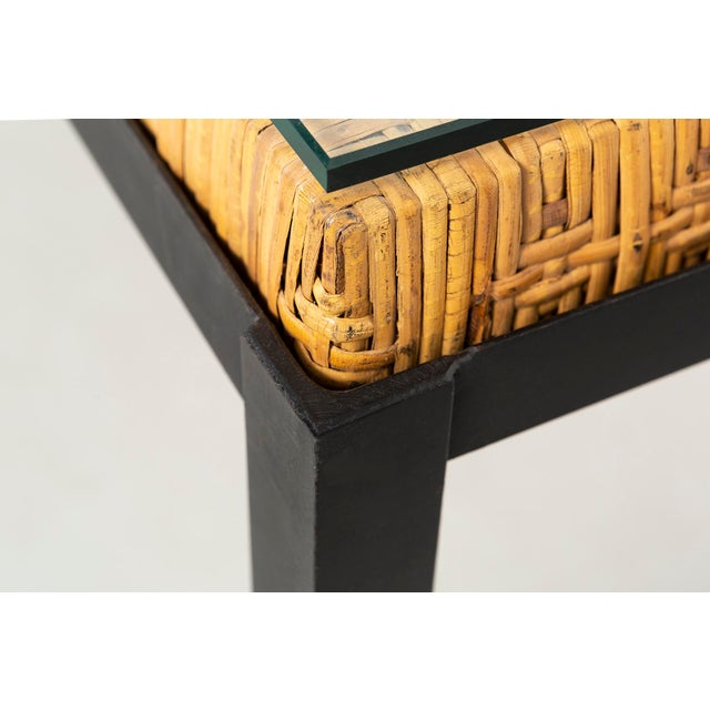 Danny Ho Fong Hand-Woven Reed Dining Table For Sale In Chicago - Image 6 of 11