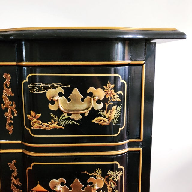 Drexel Heritage Et Cetera Collection Hand-Painted Chinoiserie Dresser For Sale In Austin - Image 6 of 11