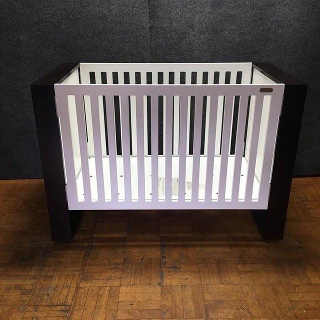 Modern Brown & White Crib by Nursery Works - Image 3 of 9