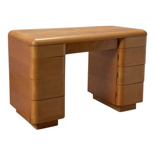 1940s Mid-Century Modern Paul Goldman for Plymold Bentwood Partner Desk For Sale