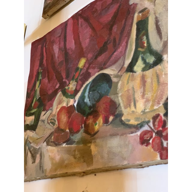 1950s Vintage Still Life Painting For Sale - Image 4 of 6