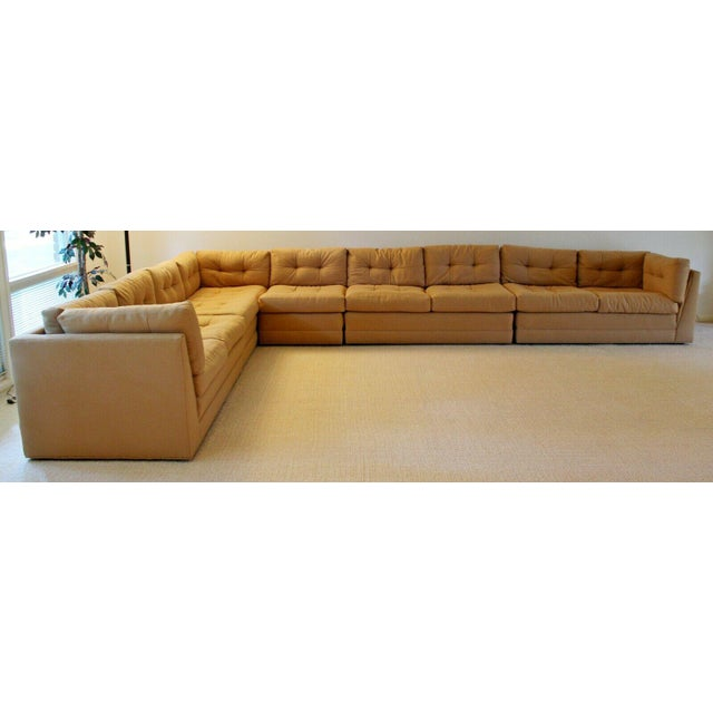 For your consideration is a luxurious feeling, five piece sectional sofa, by Vladimir Kagan for Preview. In excellent...