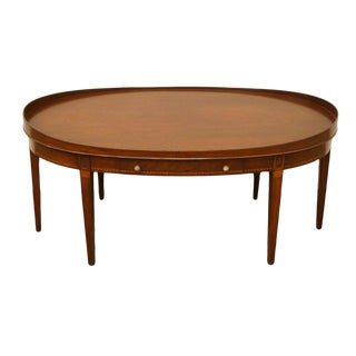 20th Century Traditional Mersman Duncan Phyfe Solid Mahogany Coffee Table For Sale