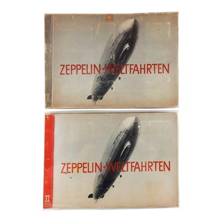 Zeppelin World Voyages 2 Volumes & Photographs 1932 - Set of 2 For Sale