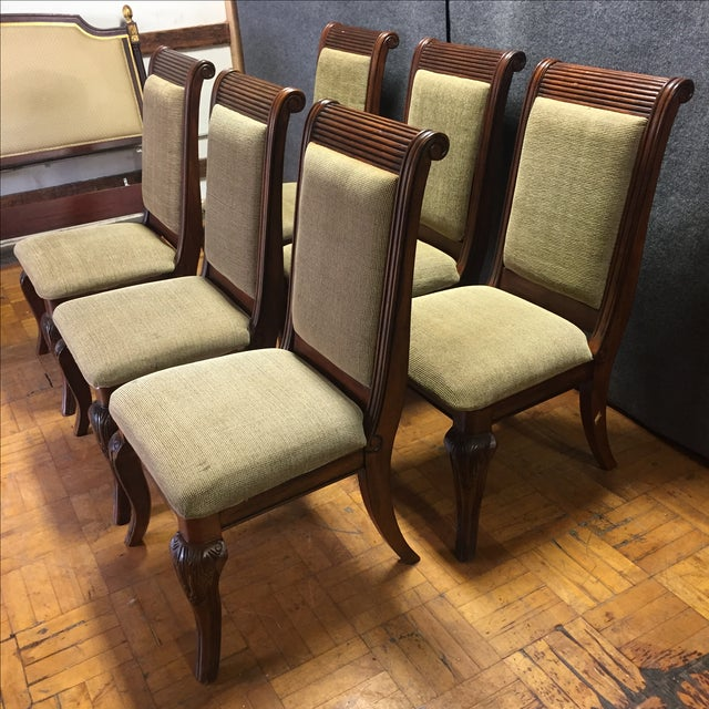 Lyre-Back Wooden Dining Chairs - Set of 8 - Image 3 of 11