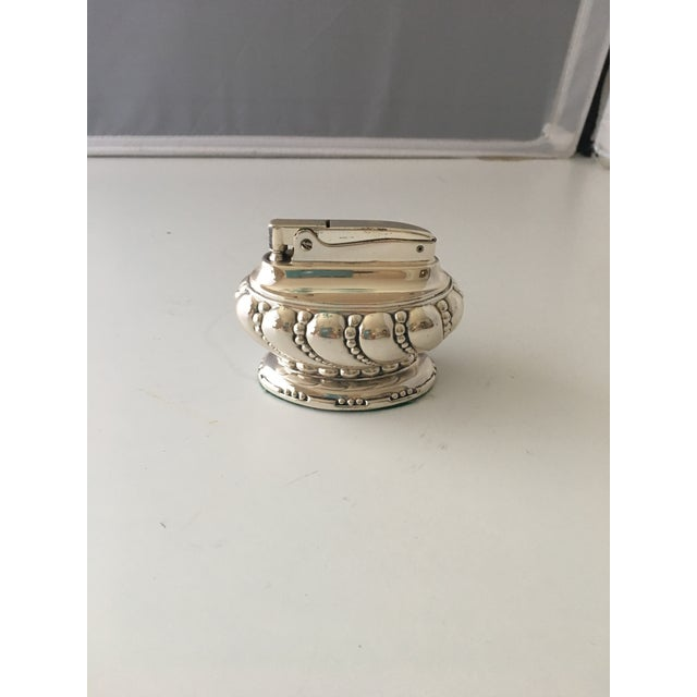 Ronson Ronson Silverplate Table Lighter For Sale - Image 4 of 4