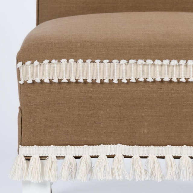 Textile Casa Cosima Sintra Chair in Hazel Linen, a Pair For Sale - Image 7 of 10