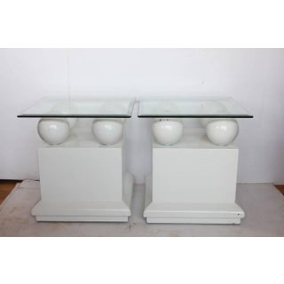Modern Lacquered Side Tables / End Tables - A Pair Preview