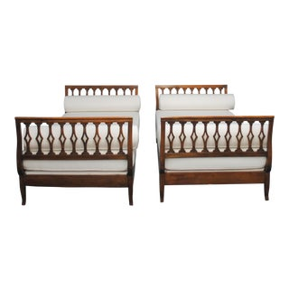 20th Century French Daybed's With Indoor Outdoor Fabric - a Pair For Sale