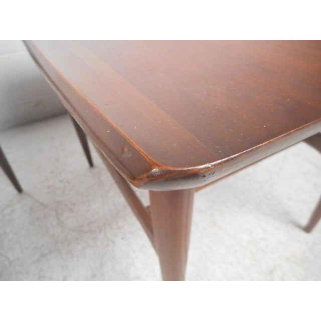 Wood Surfboard Side Tables by Bassett Furniture Co., a Pair For Sale - Image 7 of 13