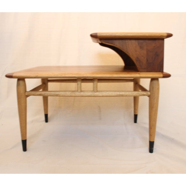Brown 1960s Mid-Century Modern Walnut and Oak Lane Acclaim Step Tables - a Pair For Sale - Image 8 of 13