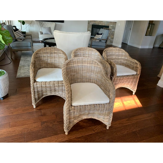Rattan Valencia Dining Chairs - Set of 4 For Sale - Image 12 of 12