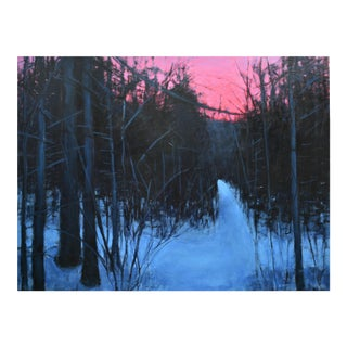 Stephen Remick Acrylic Painting of a Winter's Dawn