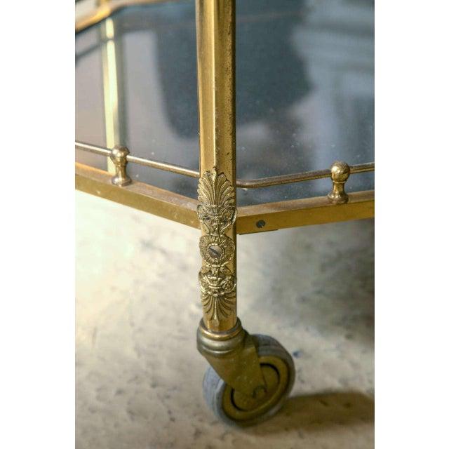 Bronze & Glass Vitrine Tea Wagon Cart For Sale In New York - Image 6 of 8