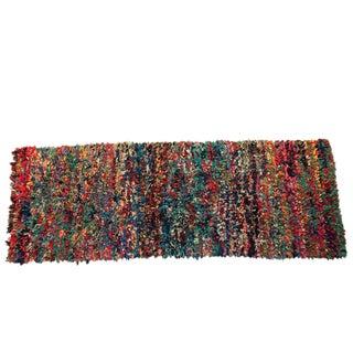 """Vintage Boucherouite Moroccan Carpet -9'4"""" X 3'9"""""""