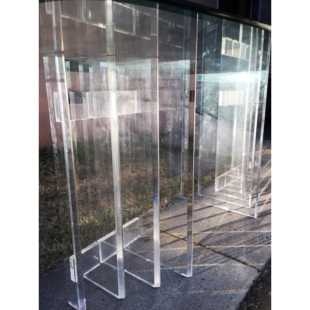 Lucite Sculptural Base Dining Table - Image 5 of 6