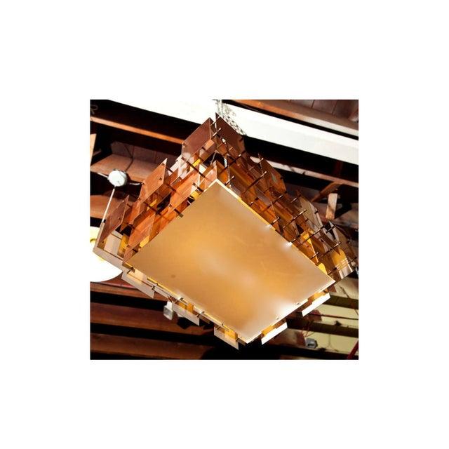 Robert Sonneman Copper Chandelier For Sale In Phoenix - Image 6 of 8