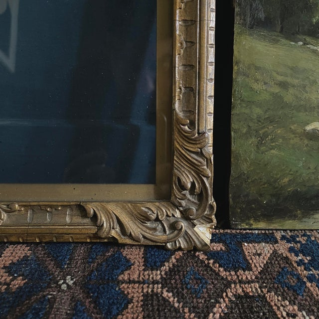 Late 19th Century Late 19th Century Landscape Oil Painting by George A. Traver, Framed For Sale - Image 5 of 6
