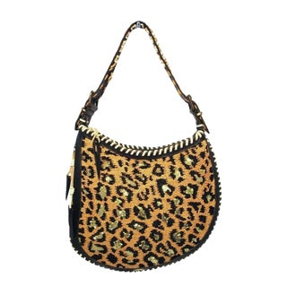 Fendi Beaded Safari Shoulder Bag For Sale