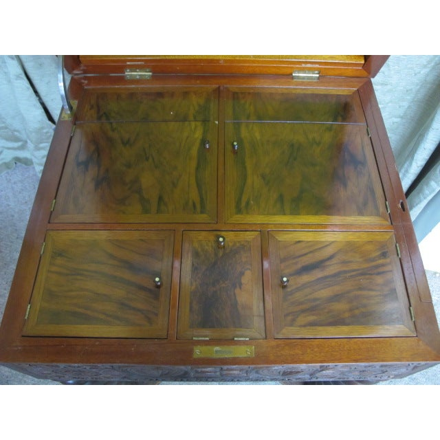 19th Century Heavily Carved Swedish Sewing Table - Image 5 of 8
