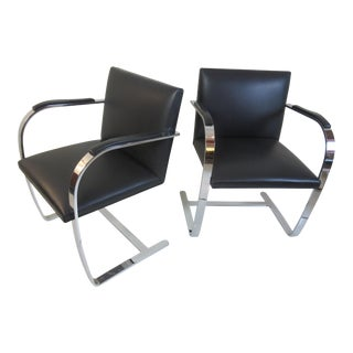 Mies van der Rohe for Knoll Four Brno Chairs in leather