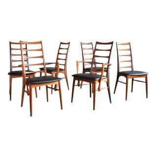 Elegant Danish Teak 'Lis' Chairs by Niels Koefoed for Koefoeds Hornslet, Set/6 For Sale