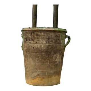 Antique English Pottery Urn For Sale