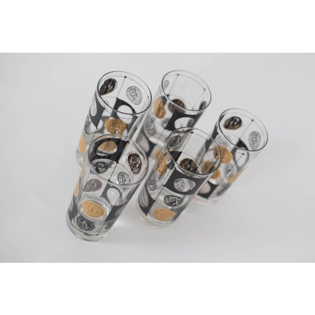 Mid-Century Coin Glasses- Set of 5 - Image 4 of 5