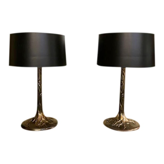 Pair Vintage Tree Form Lamps For Sale
