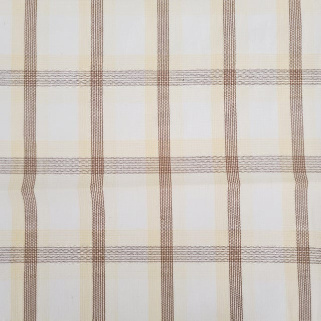 American Holland & Sherry Corfu Plaid Cotton Designer Fabric by the Yard For Sale - Image 3 of 3