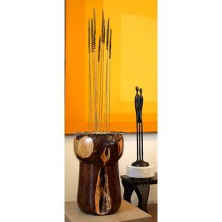 1970s Modernist Brutalist Sculpture on Rosewood Burl and Pedestal Preview