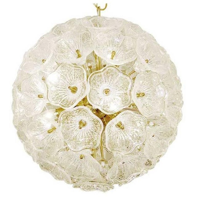 Sputnik Chandelier with Murano Glass Flowers, 1960s For Sale - Image 6 of 6