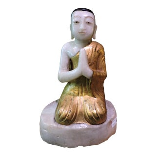 Praying Stone Monk At Peace For Sale
