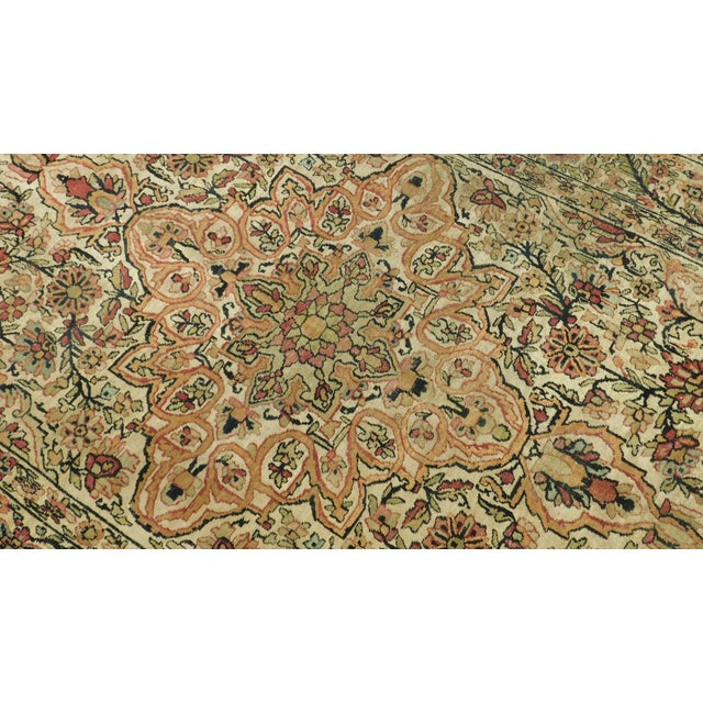 Traditional Antique Persian Kerman Lavar Rug - 4′4″ × 6′8″ For Sale - Image 3 of 5