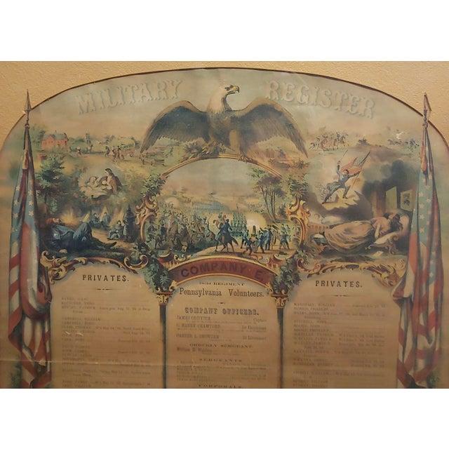 Civil War 1864 Military Register Pennsylvania Company E Manifesto For Sale In Los Angeles - Image 6 of 9