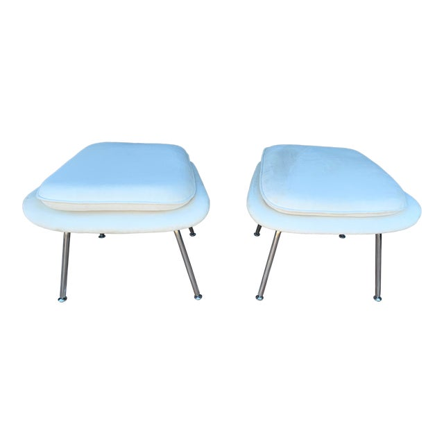 Contemporary Ottomans - a Pair For Sale