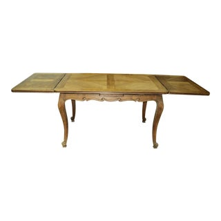 Early 19th C. Antique French Country Dining Farm Harvest Table For Sale
